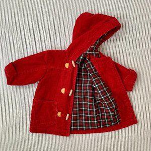 OshKosh Red Corduroy Toggle Jacket | 12M